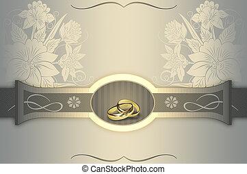 Wedding invitation card design. - Elegant floral background...