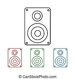 Audio speakers icon