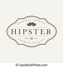 Vintage hipster badges and labels