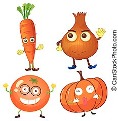 Vegetables with happy face
