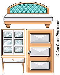 Furniture in the bedroom
