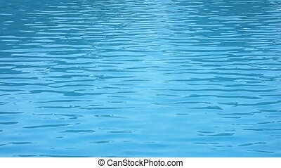 swimming pool surface caustics ripple like sea water and...