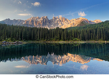 Lake Carezza, Dolomites, Italy