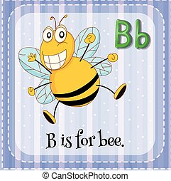 Letter B is for bee illustration