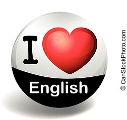 I love English on the badge