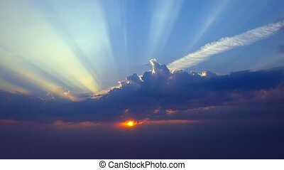 HD - Sunset with Rays of Light