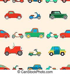 Seamless wallpaper of cars