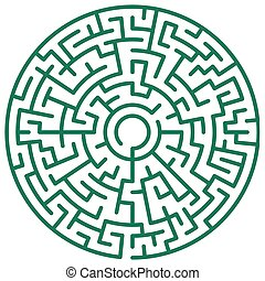 Round maze - Illustration of the round maze