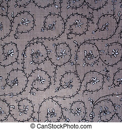 Traditional paisley pattern cashmere pashmina sample -...