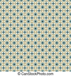 Seamless pattern with circles, squares and dots