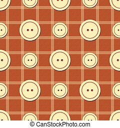 Pattern with buttons of different sizes