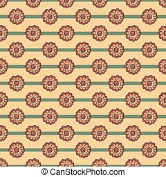 Floral pattern with flower on striped background
