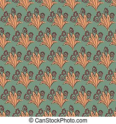 Floral pattern in retro style for gift wrapping
