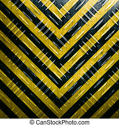 Hazard Stripe Diamond Plate - A diamond plate texture with...