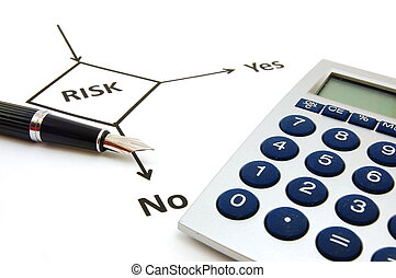 planning risk - planning the business risk with flowchart at...