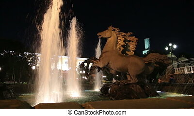 Fountain in Alexander Gardens,Mosco - Fountain with the Four...