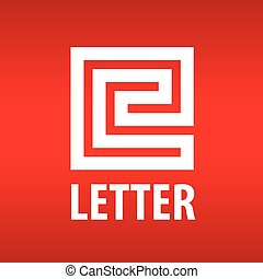vector logo letter E in the form of a labyrinth