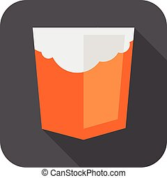Vector illustration of orange shield with old html5 cloud...
