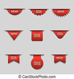 advertising special offer labels and tags