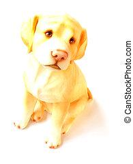 白, 犬, 背景, モデル