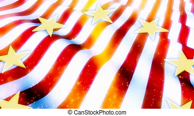 American Flag Abstract Loop