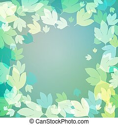 Background with bright green leaves