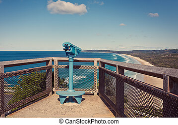 Byron bay lookout point - Binoculars overlooking the Gold...