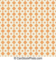 Pattern in retro style with orange dot