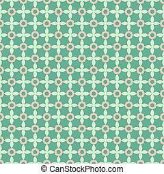 Seamless geometric pattern on a green background