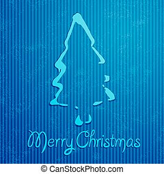 Christmas greeting card with blue background