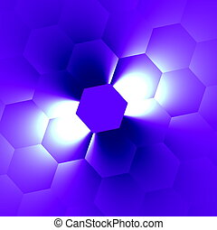White beam on blue Soft blur New ideas Page decor Top view...