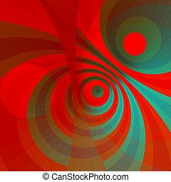 Modern art circles Hot burst - Modern art circles Hot energy...
