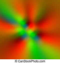 Colorful blurry pixels background. Ray beams. Warp drive....