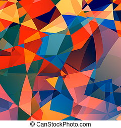 Abstract polygonal design.