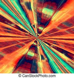 Fractal art illustration Lines - Fractal art illustration...