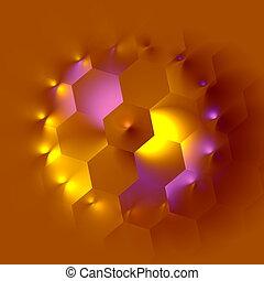 Weird hexagon intendation. Pic.