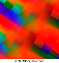 Artificial red illustration - Artificial red squares...