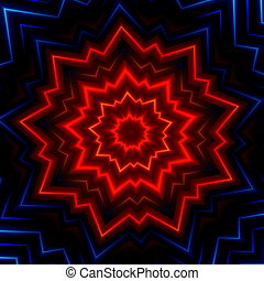 Red blue light burst or flash Neon glow Hot glowing rays...