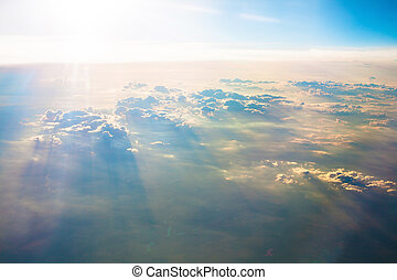 The sky - Photo of the beautiful blue sky above clouds