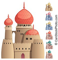 Arabian Castle on White - Cartoon Arabian castle on white...