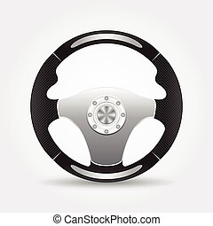 Steering wheel - vector illustration on a white background...