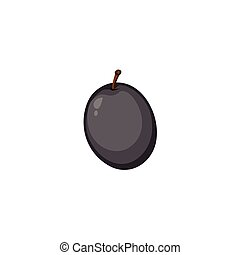 Vector Fruits - Black Olive
