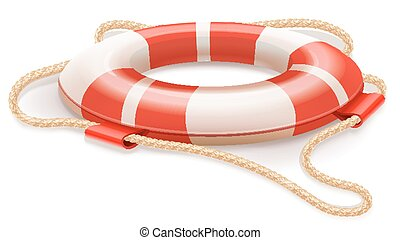 Life buoy for drowning rescue Eps10 vector illustration...