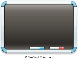 Black office blackboard for drawing and markers Eps10 vector...