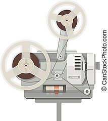 Vintage retro cinema projector for film show Eps10 vector...