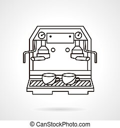 Coffee making sketch vector icon