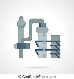 Flat color vector icon for distillery factory - Structure...