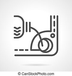 Engine oil change simple line vector icon - Plastic...