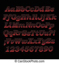 lava font - Lava font, Sizzling hot alphabet letters and...