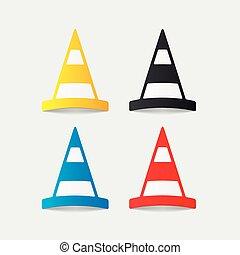 realistic design element: road cones